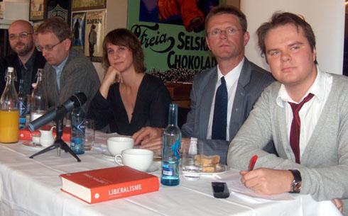 Lars Fr. Svendsen, Henrik Syse, Cathrine Holst, Terje Breivik og Ove Vanebo