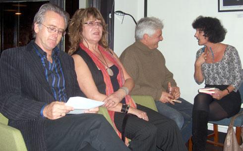 Fra venstre: Gunnar  Staalesen, Kim Småge, Kjell Ola Dahl og Unni Lindell